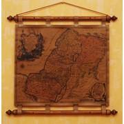 Старинная карта на коже фото