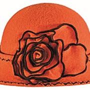 Шляпы RABIONEK из мягкой шерсти с цветком размер 56-57 фото