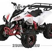 Квадроцикл подростковый MOTAX ATV Raptor Super LUX 125 сс бело-красный фото