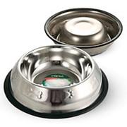 Миска металлическая с тиснением на резинке 0,4л 1553 фото