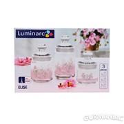 Набор банок Luminarc Elise 3 штуки (9940h) фото