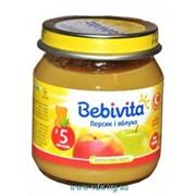 Пюре Bebivita 100г Персик яблоко фото