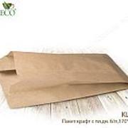 Крафт пакет с пл. дн.,170*70*300мм(бумага) - бумажные крафт пакеты фото