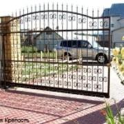 Ворота откатные, сдвижные фото
