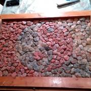 Картина из сильвинитовых камней фото