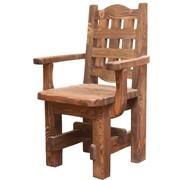 Кресло с эффектом старения из массива сосны фото