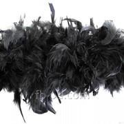 Боа пух-перо D 10 Черный 23341 фото