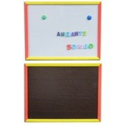 Доска 40х50см магнитно-маркерная-меловая 2-ст. в деревянной окрашеной раме ,Д144а фото
