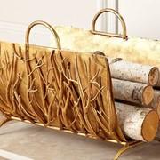Корзины для дрова у камина фото