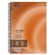 Бизнес-тетрадь 100л,кл,А4,LightBook,спираль,обл.оранж,блок белый 70г/м фото