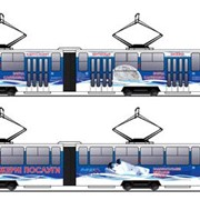 Реклама на трамваях фото