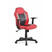 Кресло компьютерное Halmar NEMO (красно-черно-серый) фото