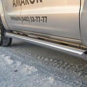 Пороги VW Amarok 2010-2012 (вариант 1 труба 76 мм) фото