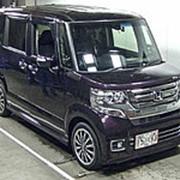 Микровэн турбо HONDA N BOX кузов JF2 класса минивэн модификация Custom Turbo 2016 4WD пробег 9 т.км пурпурный фото