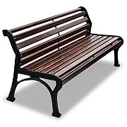 """Скамейка садовая """"Ретро стиль"""" без подлокотников, кресло, 0,6м фото"""