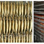 Коптильная тележка тип Z на поворотных колесах для копчения рыбы на шампурах и сетках фото