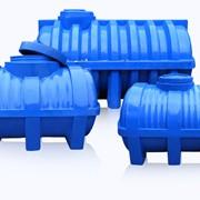 Горизонтальные пластиковые емкости многослойные от 100 до 5000 литров фото