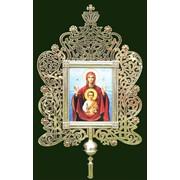 Икона малая (к кресту ) Высота 80 см. Ширина 48 см., Иконы под заказ, церковная утварь из Латунь фото
