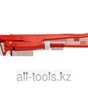 Ключ трубный рычажный Зубр, прямые губки, цельнокованый, Сr-V, № 2, 1,5 Код: 27335-2 фото