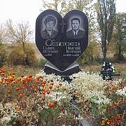 Памятник гранитный Сердце двойной фото