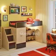 Детская комната Легенда 9 с полками венге светлый/венге темный фото