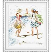 """Набор для вышивания """"Прогулка по пляжу"""" 110808 фото"""
