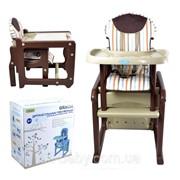 Детский стульчик-трансформер BT-HC-0020 BROWN GRACIA фото