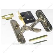 Защелка межкомнатная (ручка планка поворотник) ФАМОС ВК 5003-L31 AB (бронза) №328321 фото