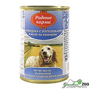 Родные корма Корм для собак Родные Корма 410гр говядина с потрохами фото