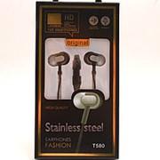 Внутриканальные Наушники Stainless steel T-580 Black фото