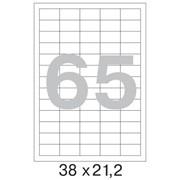 Офисные этикетки 38 x 21.2 mm, на листе 65шт (100 листов в пачке) фото