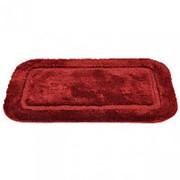 "Коврик для ванной ""Lux Border"" 50х80см (плюш) бордовый фото"