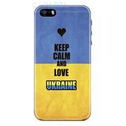 Патриотический чехол Keep Calm and Love Ukraine для iPhone 5/5S фото
