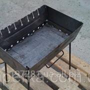 Мангал-чемодан, на 10 шампуров, толщина металла 2мм, складной мангал фото