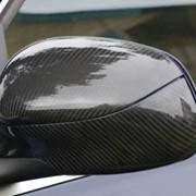 Карбоновый корпус зеркала на Porsche Cayenne, верхняя часть фото