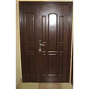 Дверь металлическая со вставкой фото