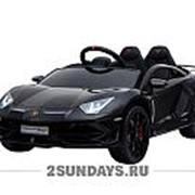 Детский электромобиль Lamborghini Avendator SVJ HL328 черный фото
