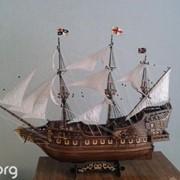 Корабль новый.Ручной работы копия коробля 17 века KING S DEER фото