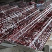 Изготовление из гранита дорожного бордюра и брусчатки. фото