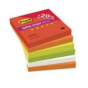 Блок-кубик Post-it Super Sticky 654-6SSRP Огонь 76х76, 6бл х 90л. фото