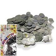 Конфетти фольгированное Круги серебро 2см 300гр фото