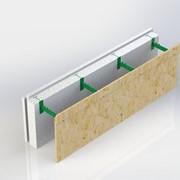 Блок комбинированной опалубки - Комблок. Разборной, 300 мм высотой, регулируемая толщина заливки бетоном от 100 до 450 мм. фото