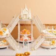 """Свадебный торт """"Крепость"""" фото"""