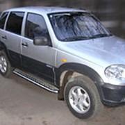 Пороги Chevrolet Niva 2009 - наст.время (с листом 43 мм) фото