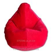 Велюровое кресло-мешок груша красная 120*90 см фото