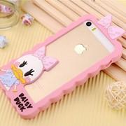 Бампер силиконовый Disney Daisy Duck для iPhone 5/5S розовый фото