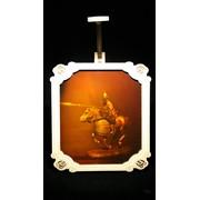 Сувенир голографический с подсветкой настольный Рыцарь фото