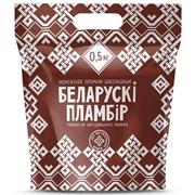 Мороженое Беларускi пламбiр шоколадный в полимерном пакете, 500 г, 1000 г фото