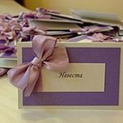 Рассадка гостей, гостевые карточки фото