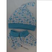 Комплект пинетки+шапочка 117001 фото